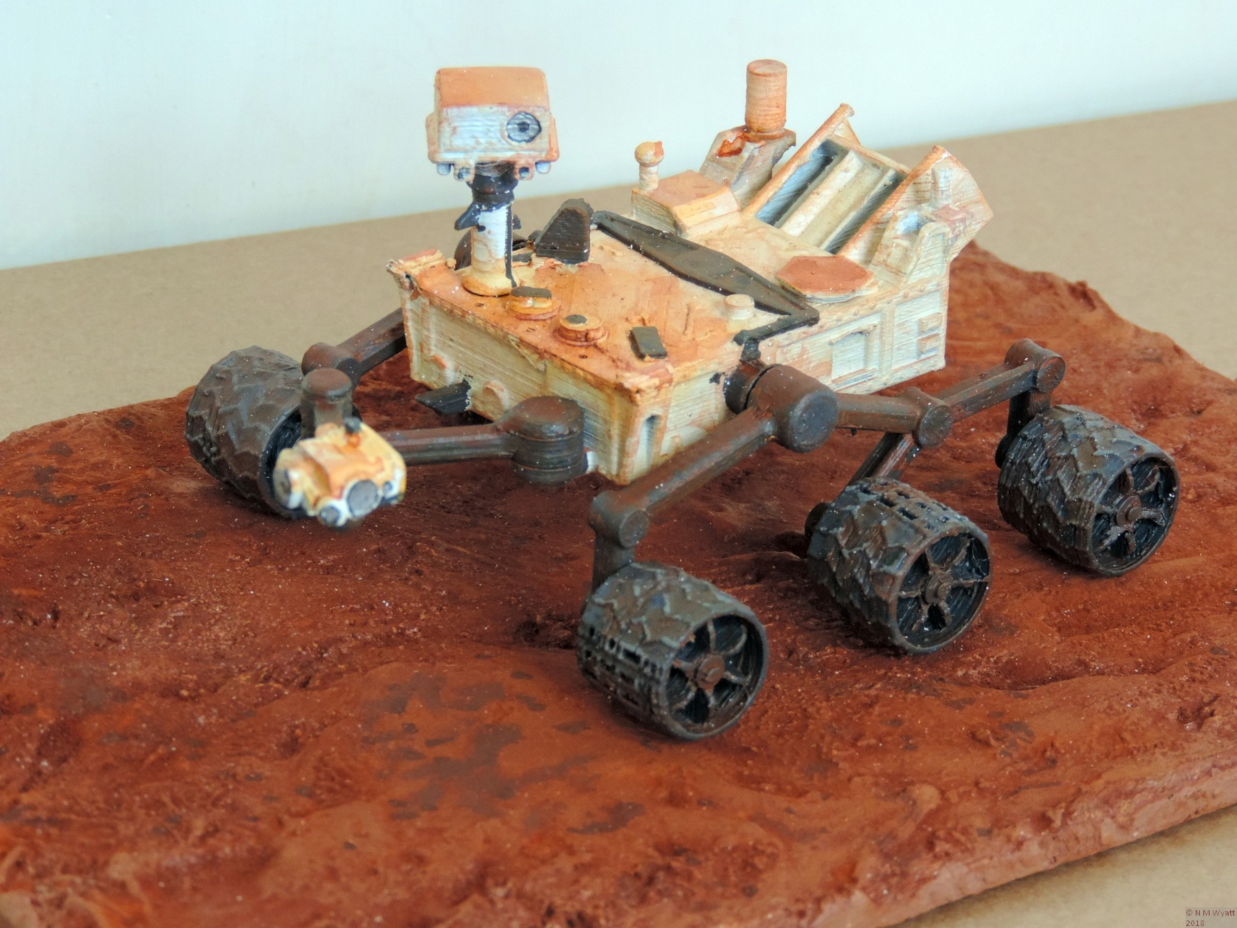 NASA Curiosity Rover £D model with Mars terrain