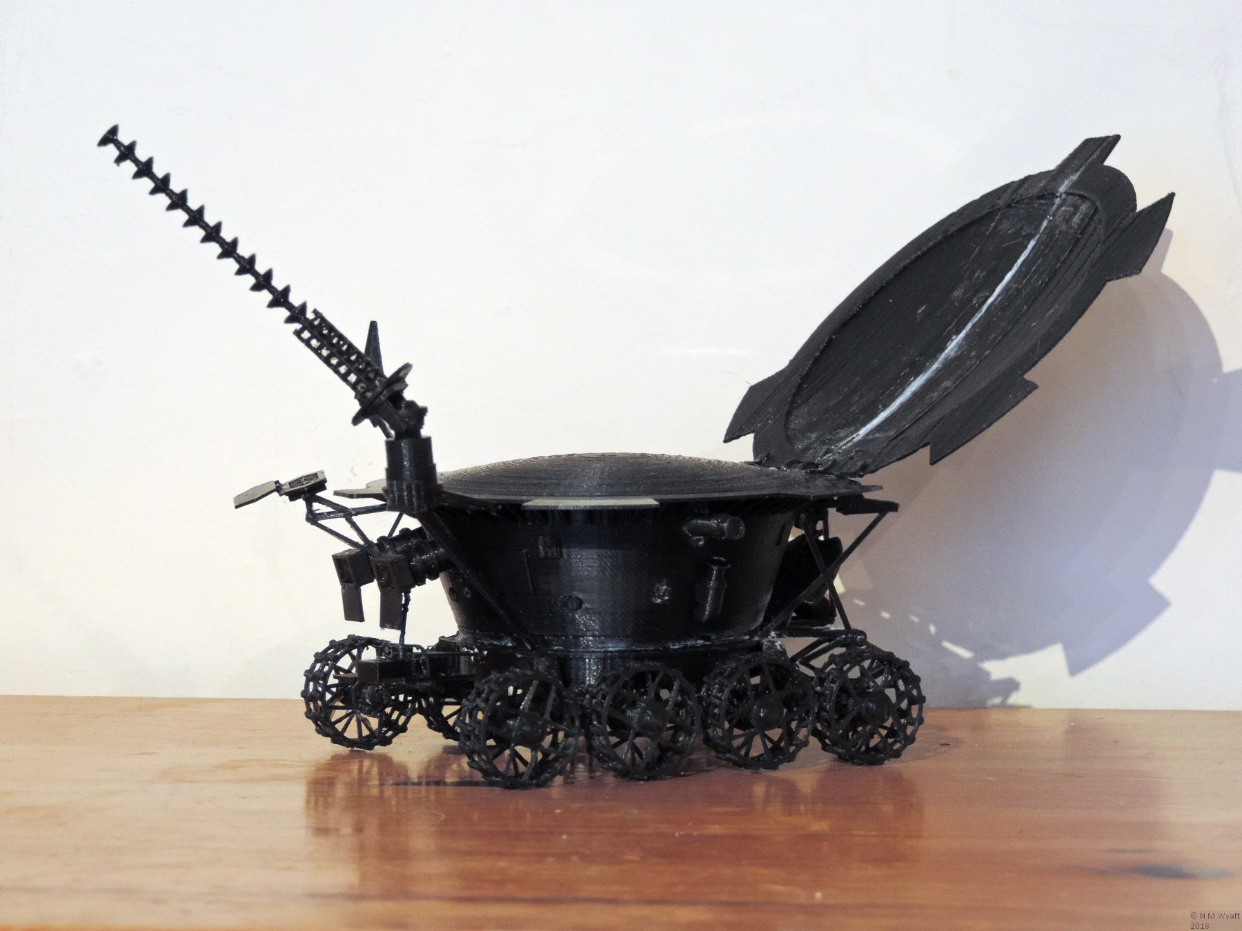£D printed model of Lunokhod 1