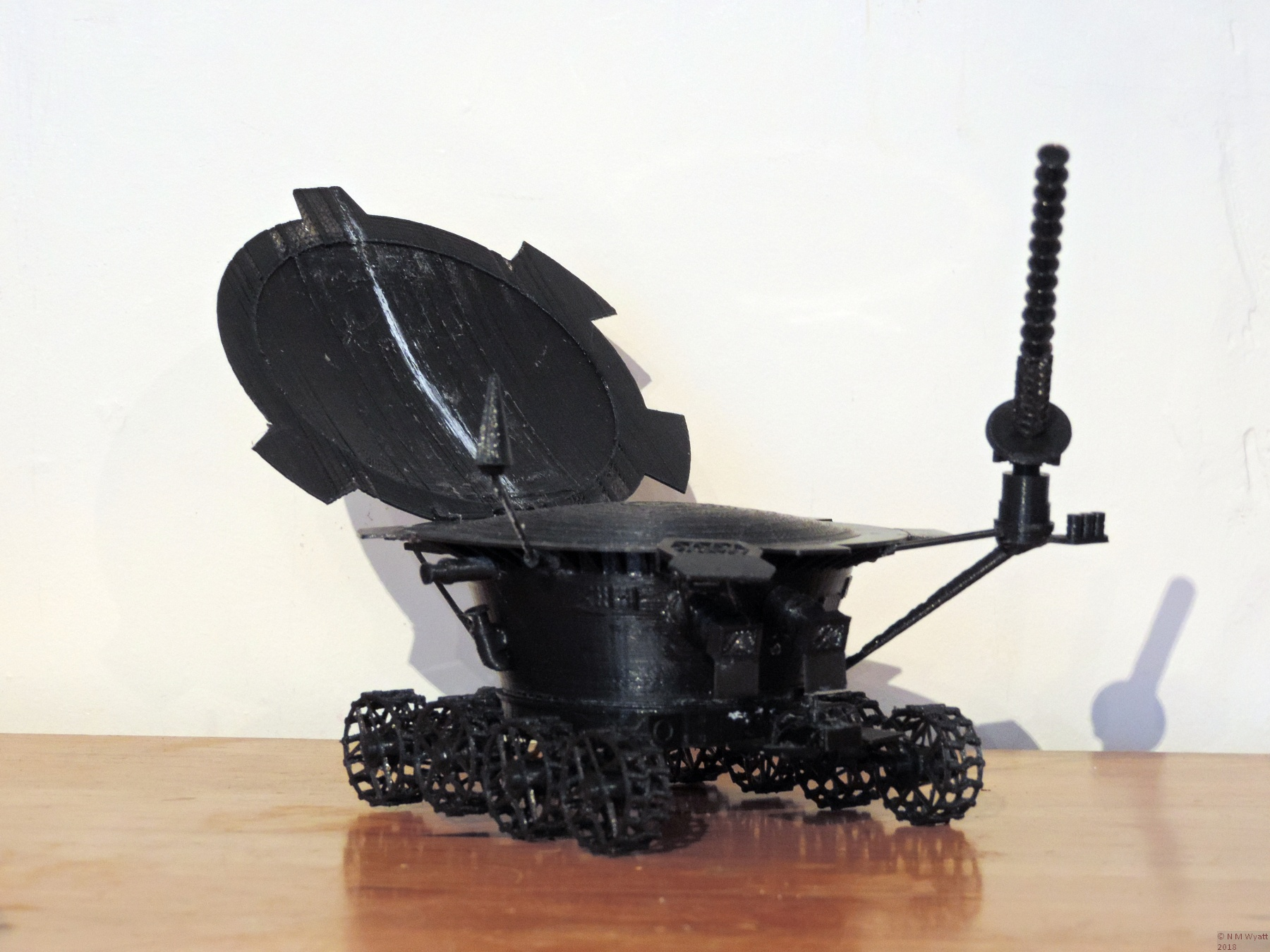 3d printed model of Lunokhod 1