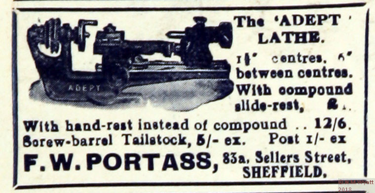 A 1932 Advert for the Adept Lathe