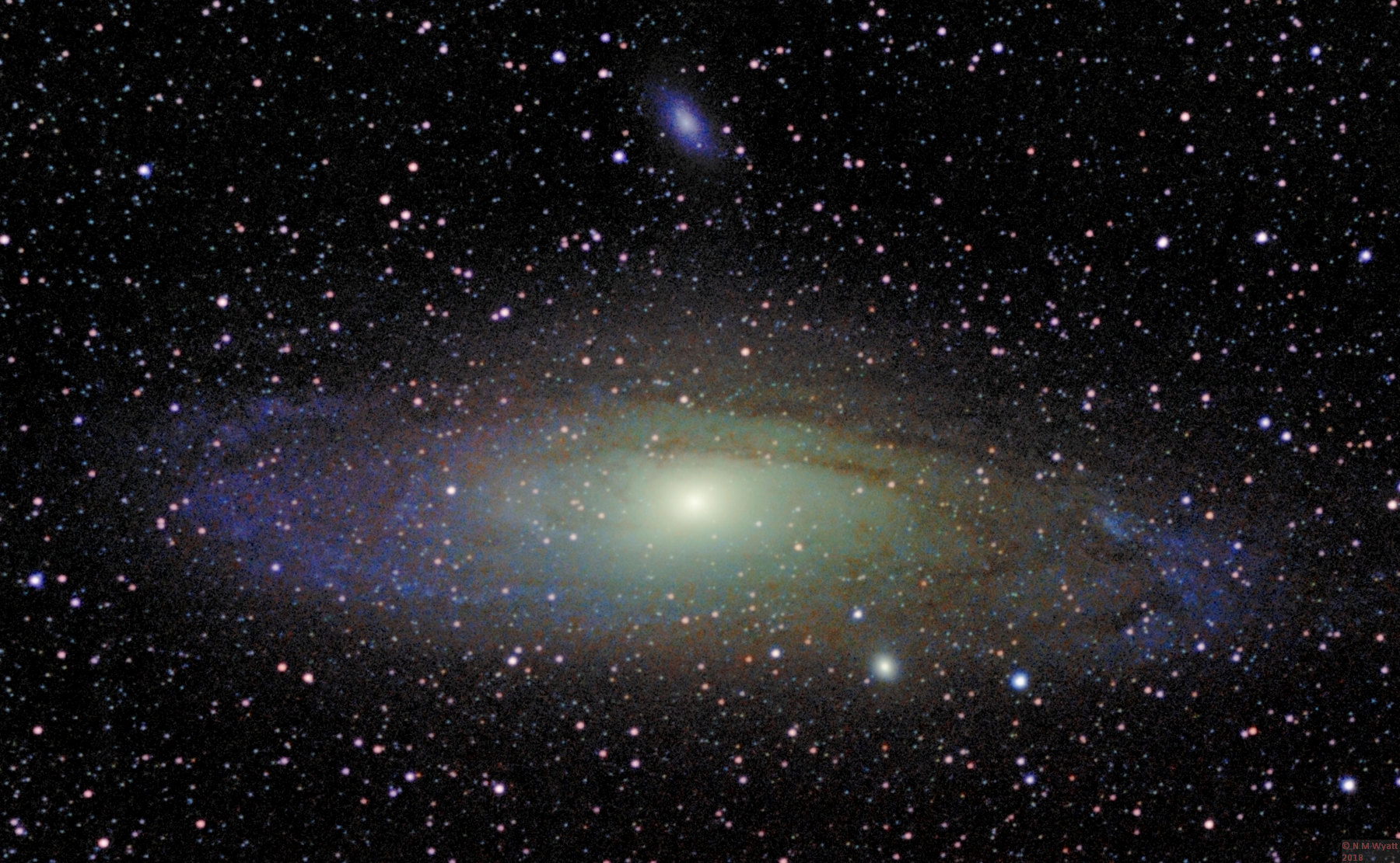 Andromeda Galaxy M31, with dwarf galaxies M32 and M110