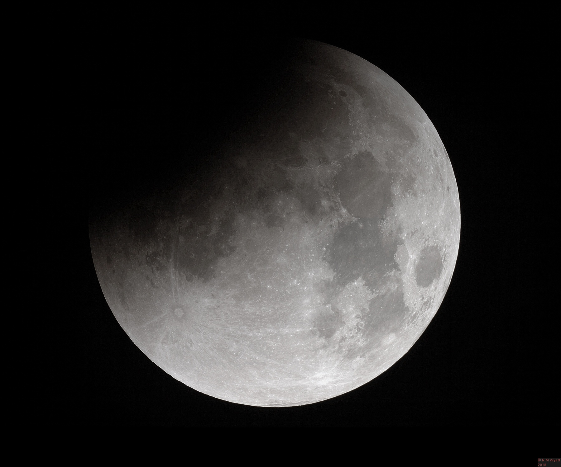 Progress of a Lunar Eclipse