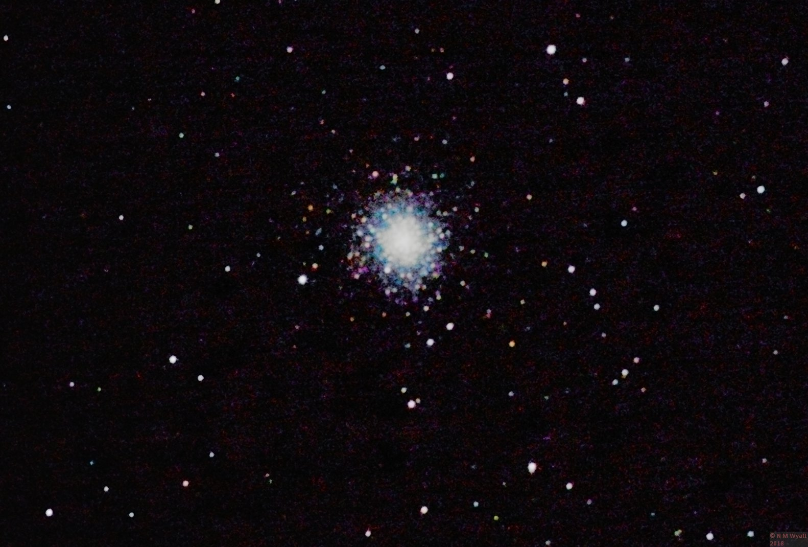 Messier 2, a globular cluster in Aquarius