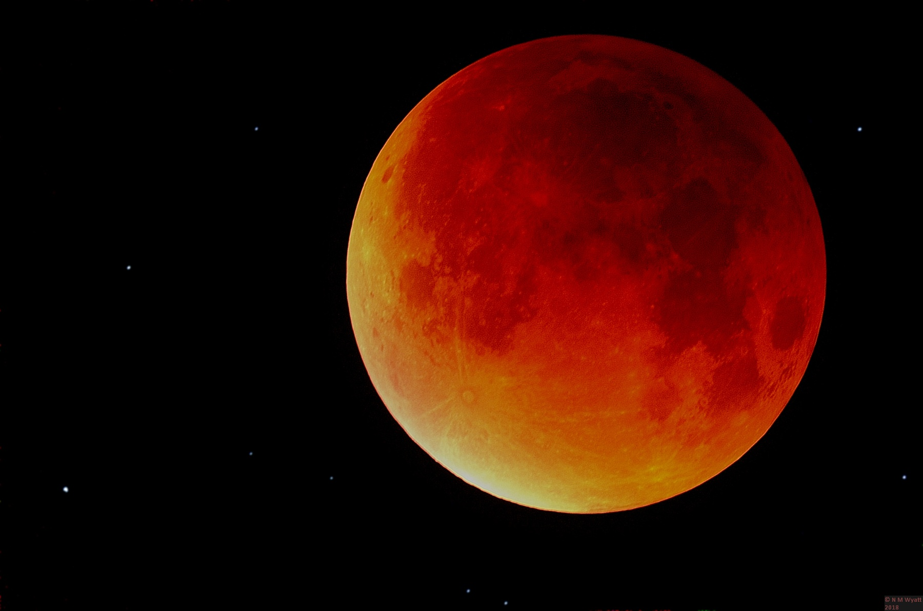 Probably the finest picture of Lunar Eclipse 28 September 2015 on the internet