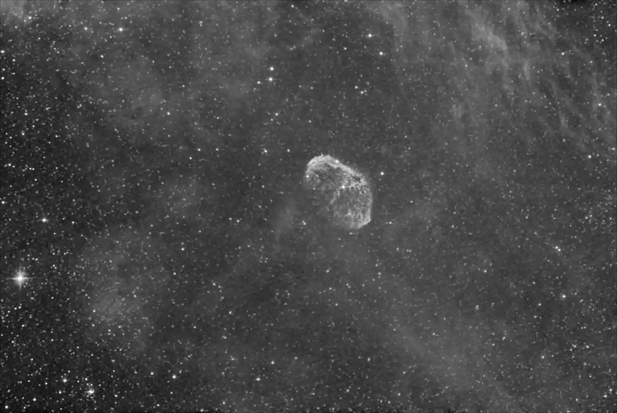 The Crescent Nebula in Hydrogen Alpha light