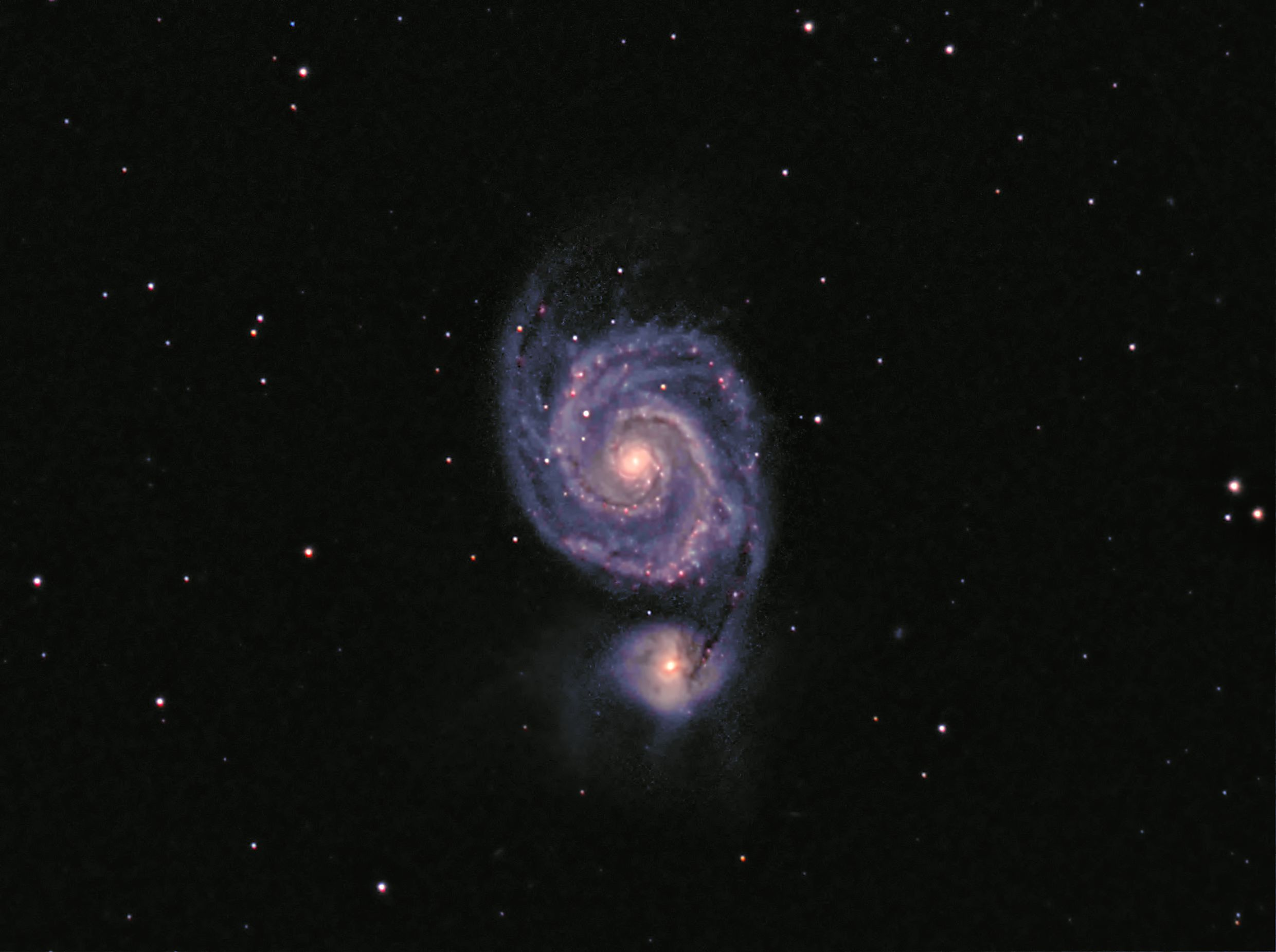 The Whirlpool Galaxy, M51 LRGB with Ha