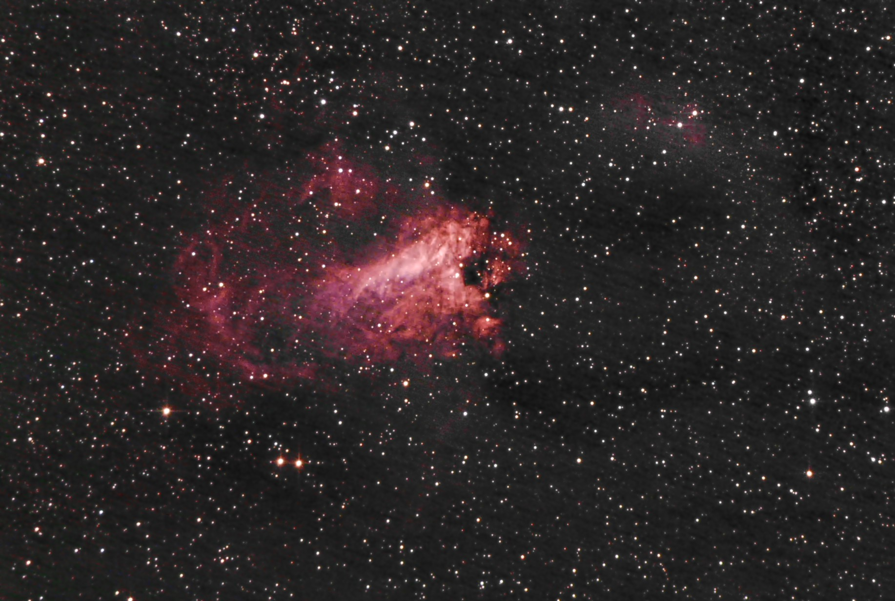 The Swan or Omega Nebula M17