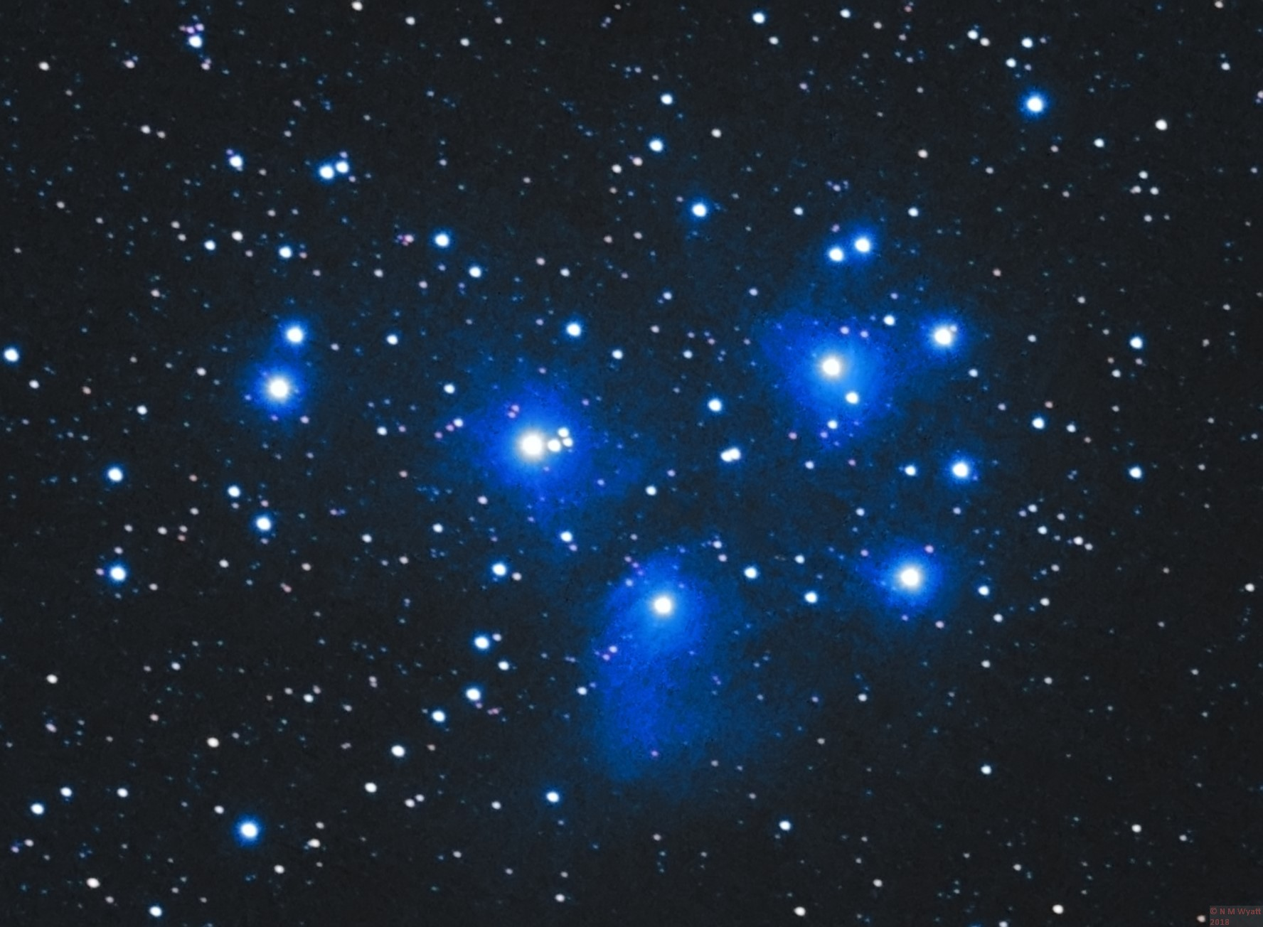 The Pleiades and the Merope Nebula