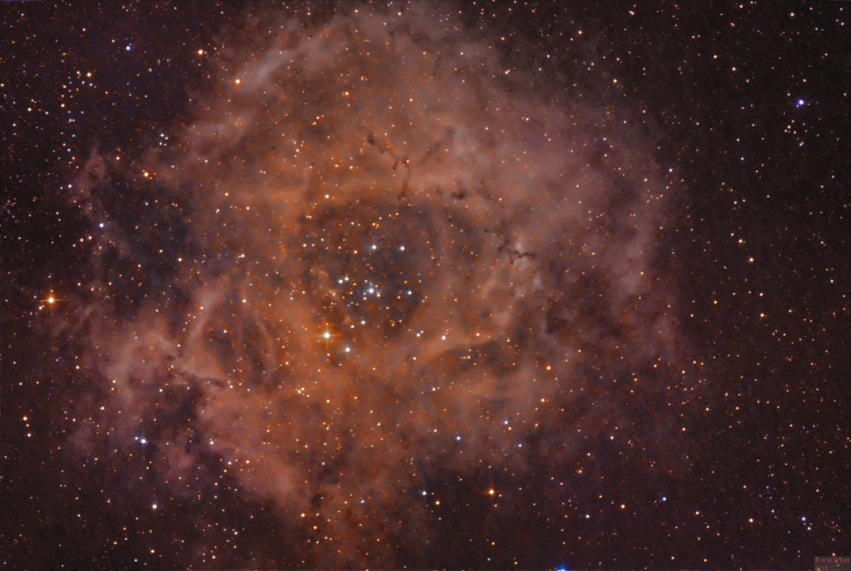 Rosette Nembula in Ha plus OSC