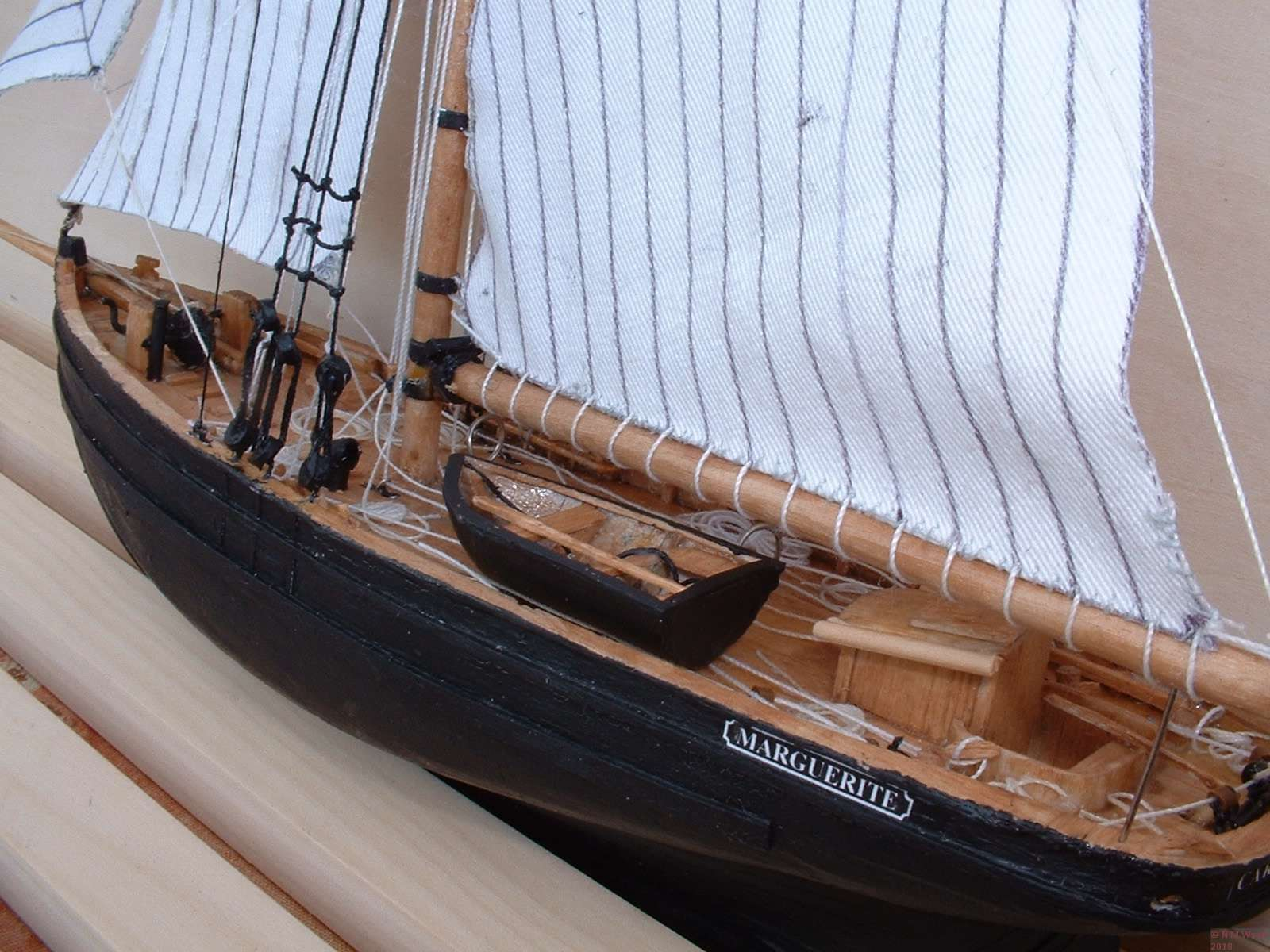 Close up of Pilot Cutter Model