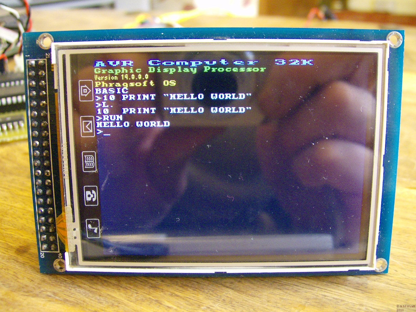 AVR powered Display using BBC Micro VDU codes