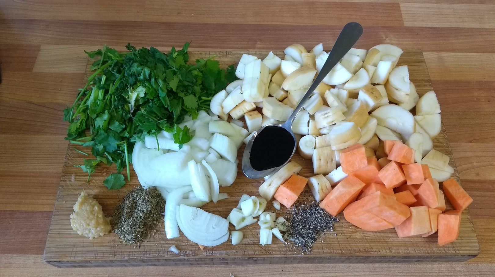 Parsnip soup ingredients