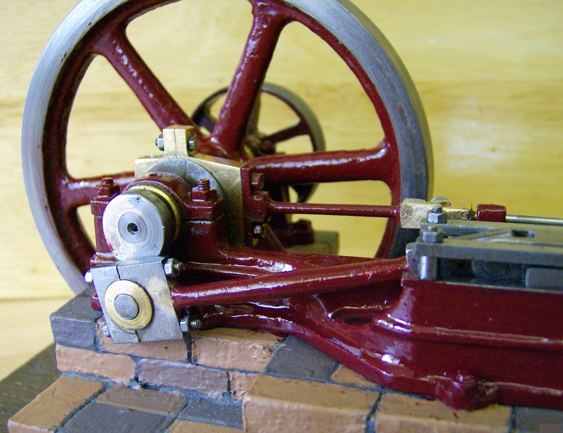Flywheel of Buxton horizontal steam engine