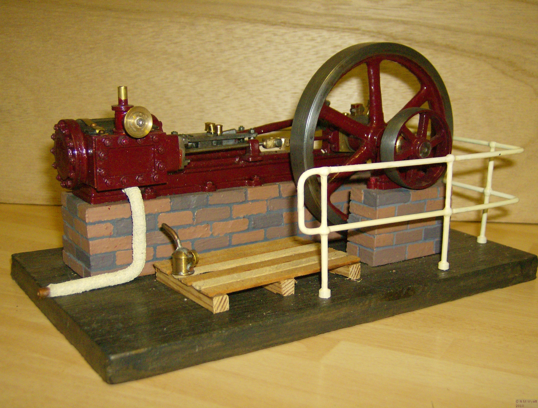 Buxton horizontal steam engine