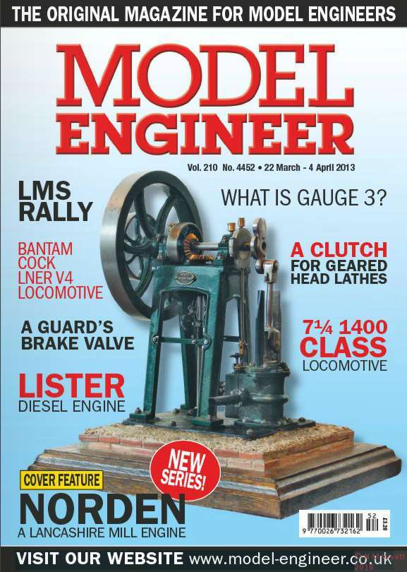 Norden on the cover of Model Engineer issue 4456