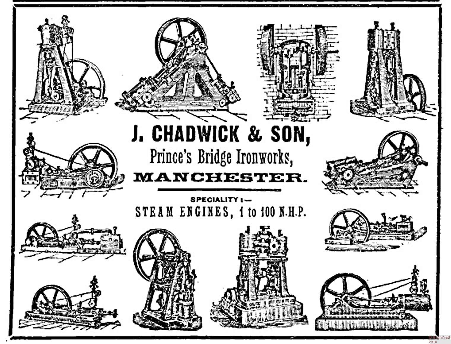 A victorian advertisement for John Chadwick engines, probably more recent than Nordern
