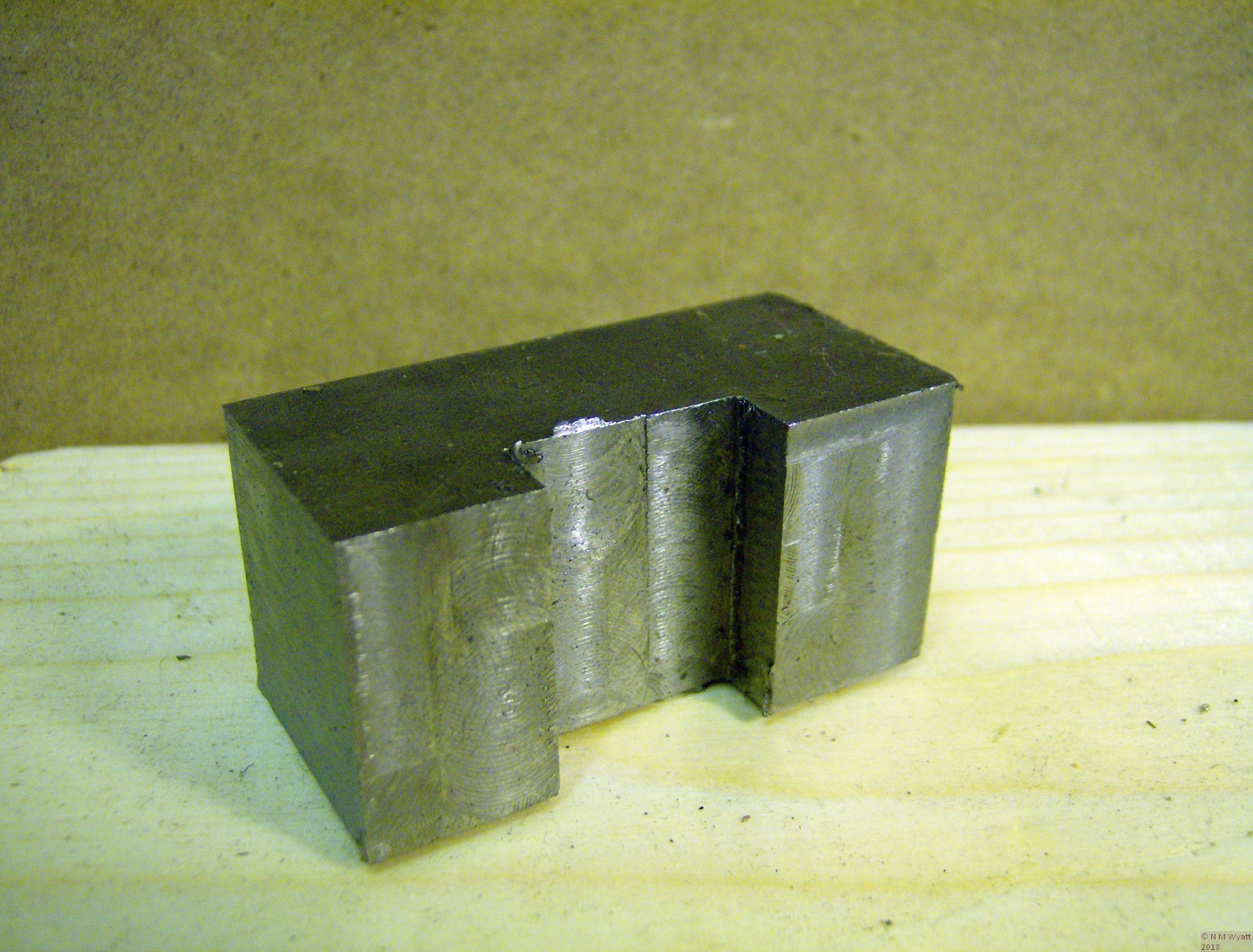 A toolholder blank, with a plain slot