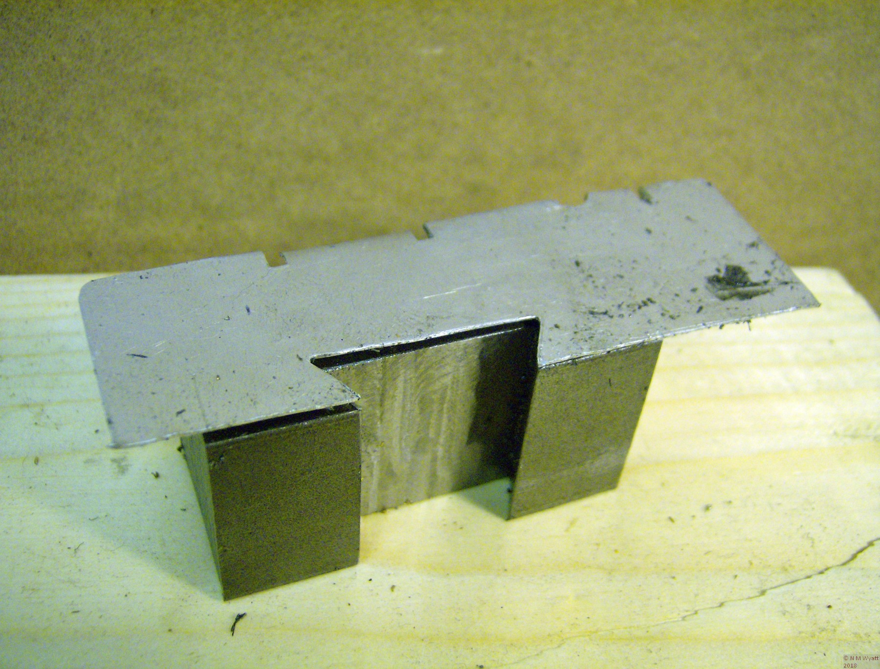 The dovetail template