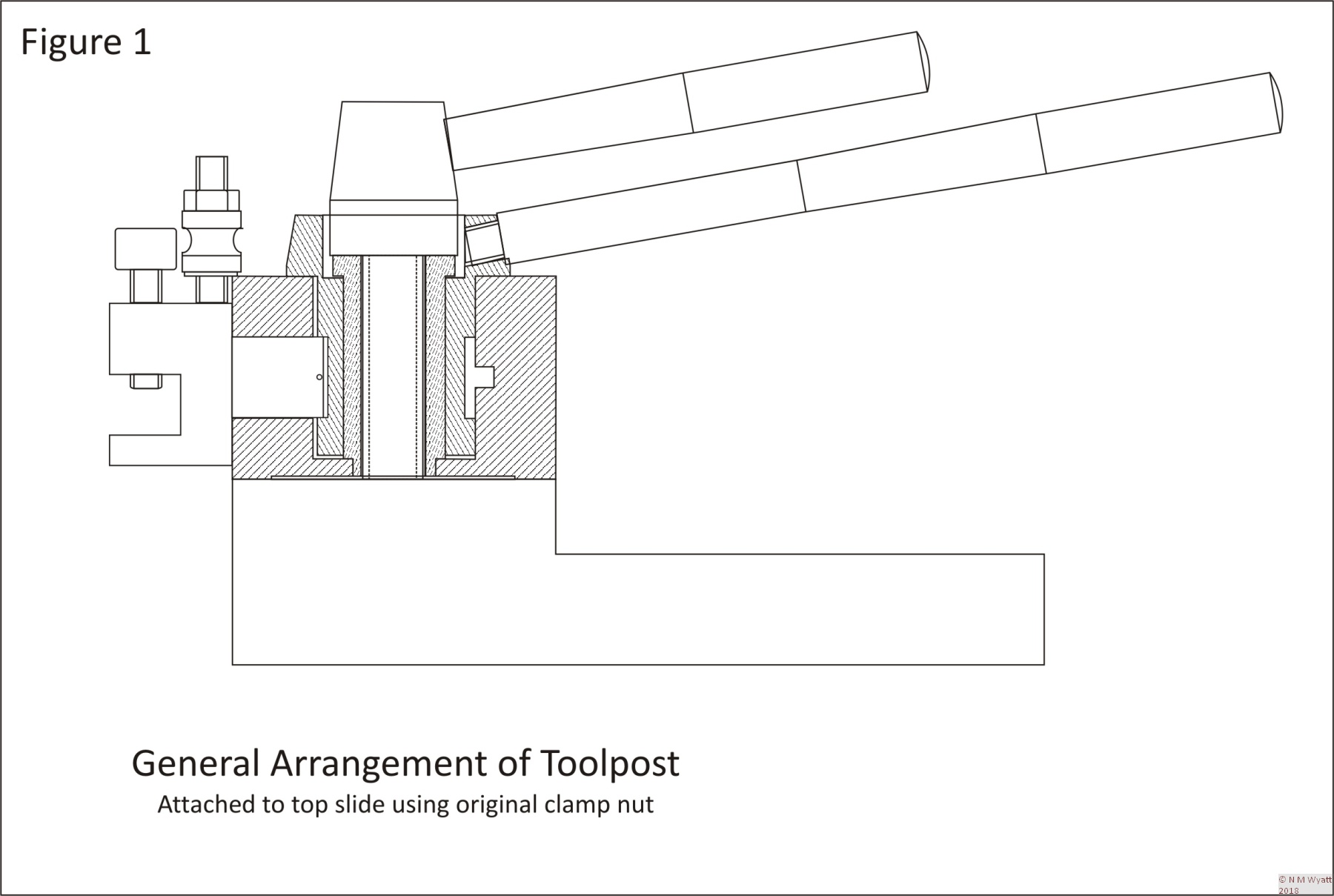 General Arrangement of Quick Change Toolpost