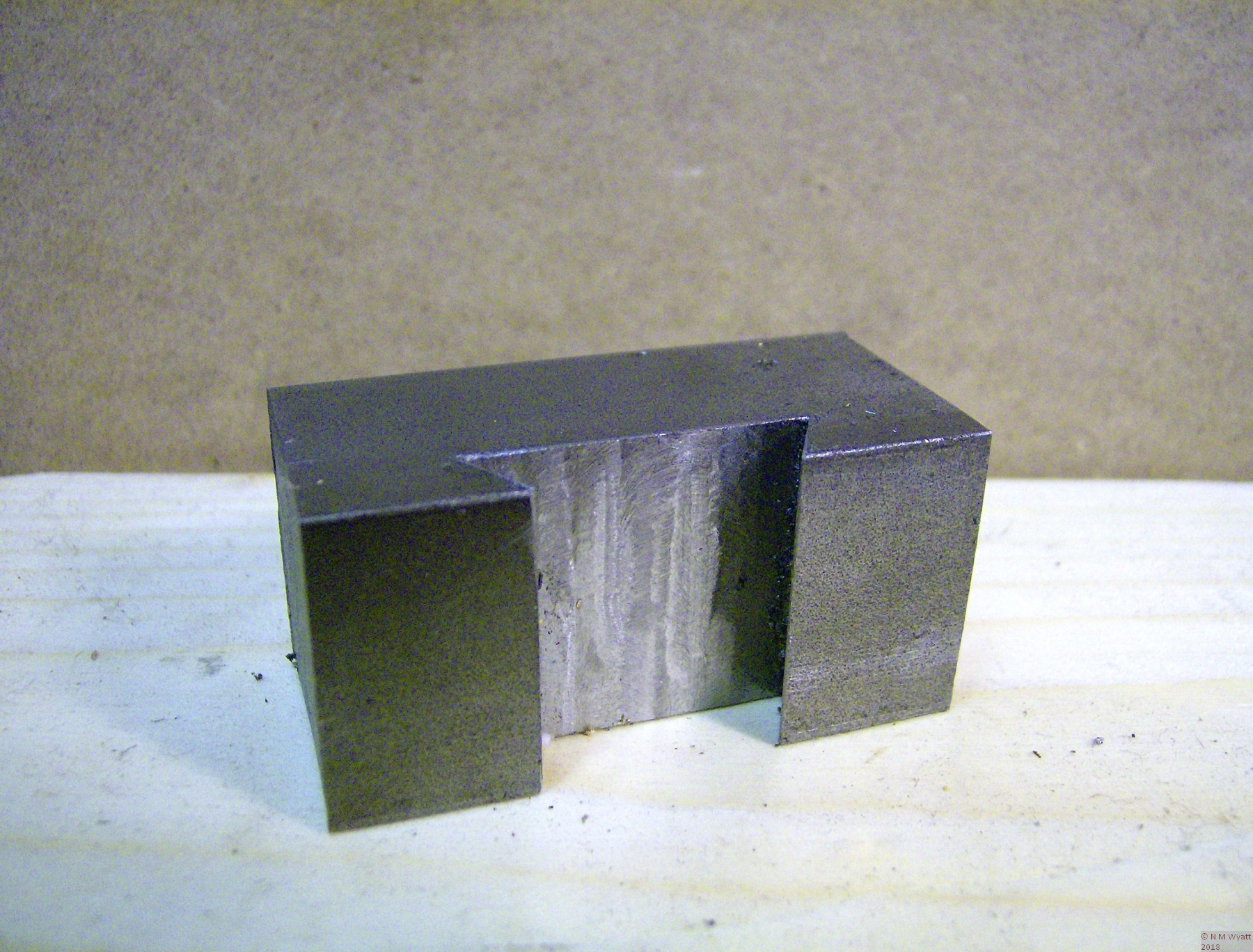 A finished toolholder blank with its dovetail