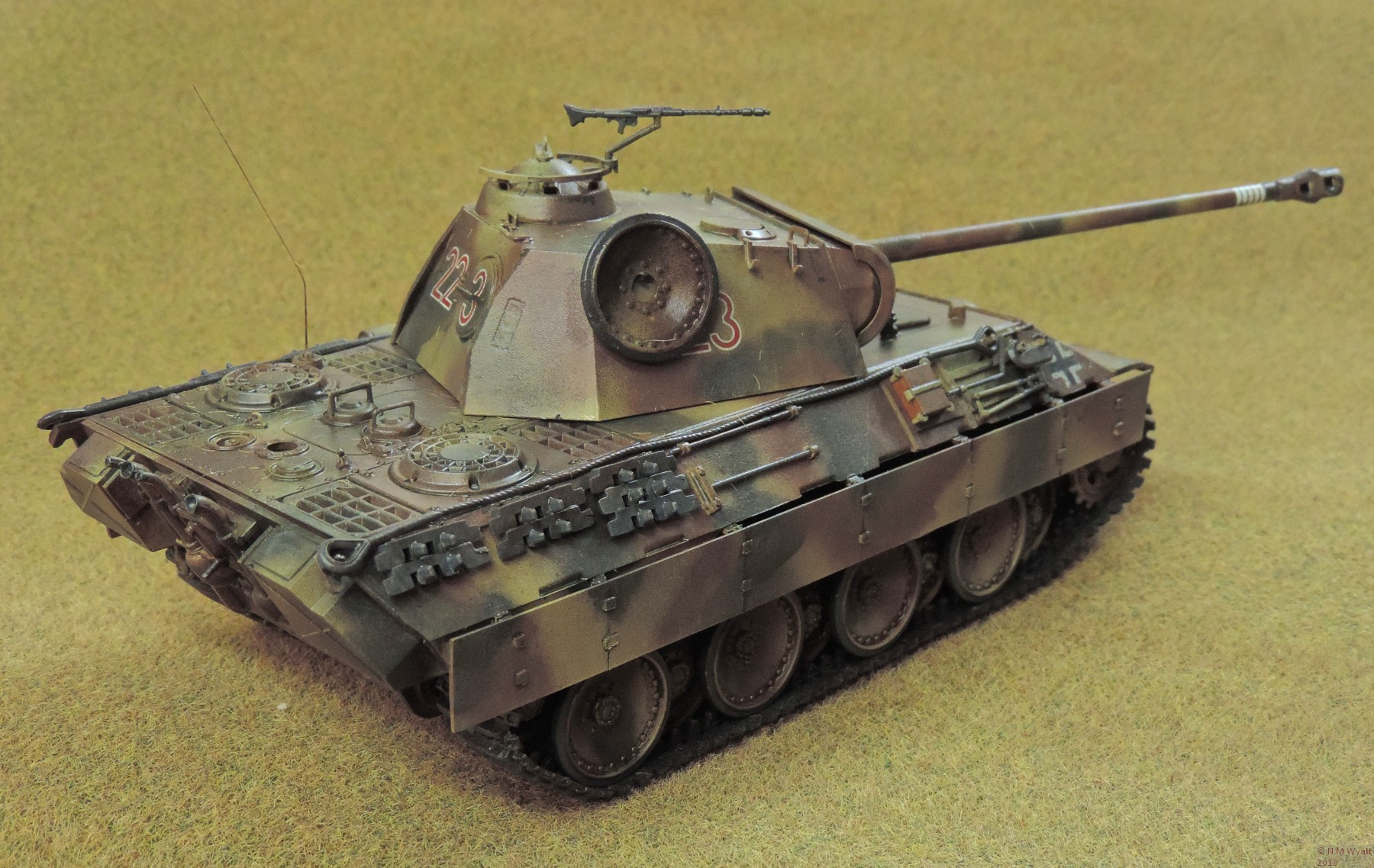 Tamiya Panther Ausf A rear view