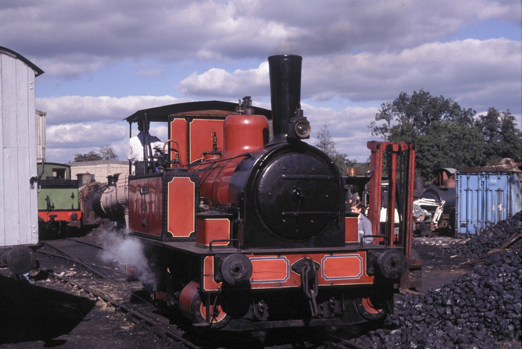 0-4-0 tank loco Captain Baxter at the Bluebell Railway in 1989