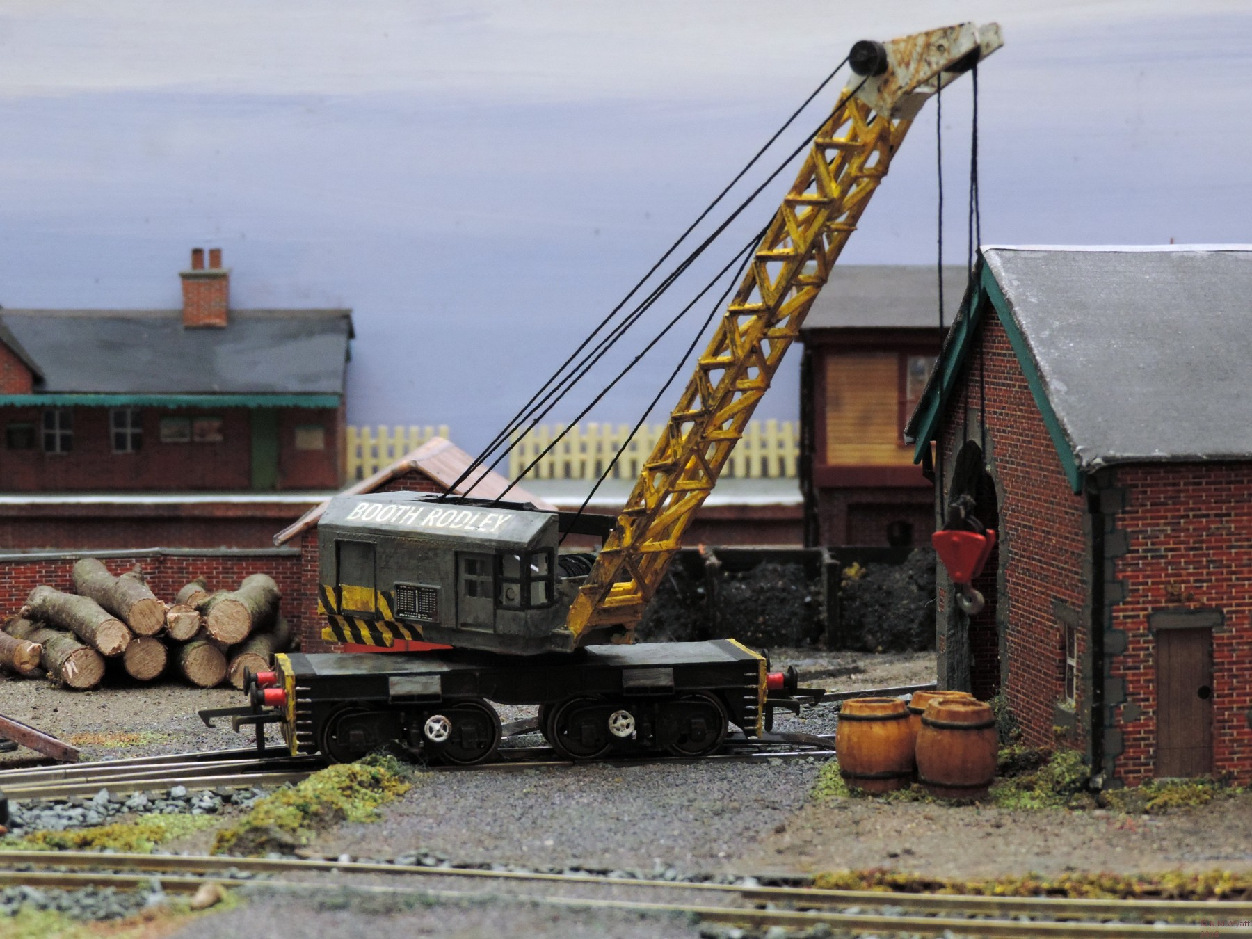 Booth Rodley 15T crane, Dapol Airfix model.
